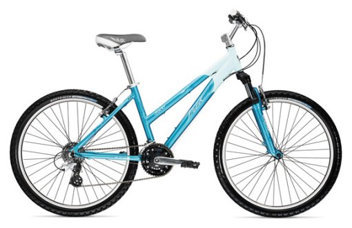 Suzy's little blue mountain bike